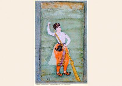 Portrait of Nur Jahan Holding a Gun