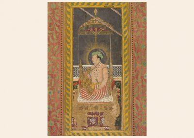 Posthumous Portrait of Emperor Jahangir Under a Canopy
